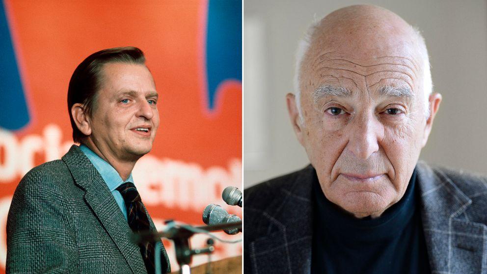 Delad bild, från vänster: Förre statsministern Olof Palme. Från höger: Advokaten Leif Silbersky.