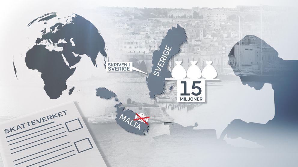 I tre års tid tar Paradisförfattaren ut sammanlagt 15 miljoner ur sitt företag på Malta, utan att redovisa inkomsten för Skatteverket.