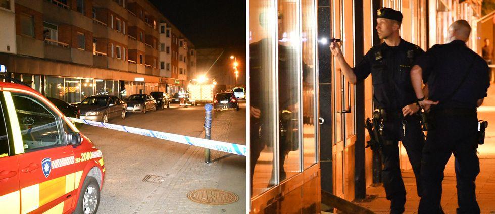 Explosionen inträffade på Pilgatan i centrala Malmö, natten mot söndag.