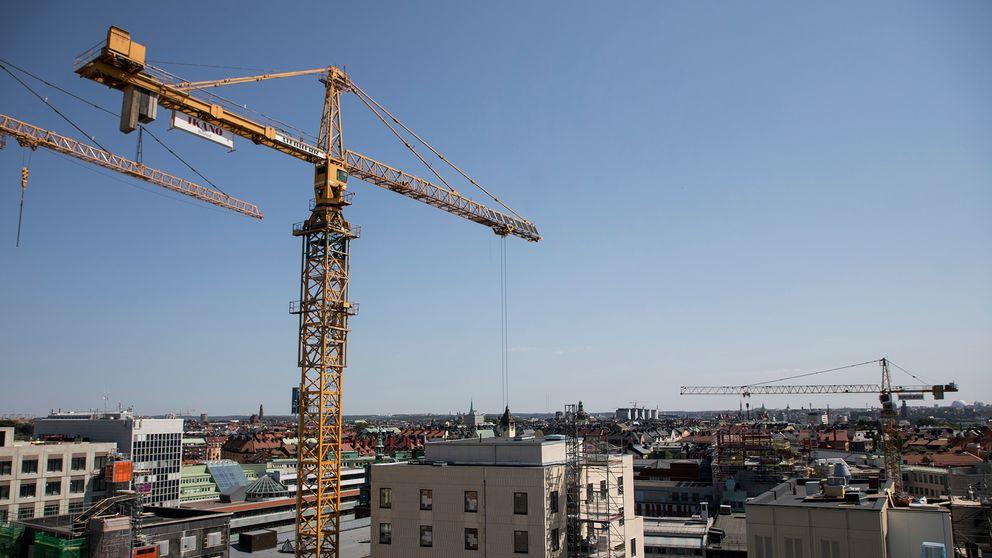 Byggkran i Stockholm.