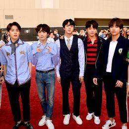 Det sydkoreanska popbandet BTS.