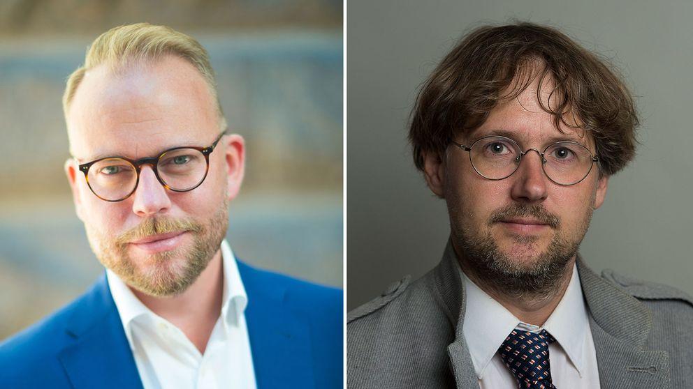 Olov Lavesson (M) och Niclas Malmberg (MP).