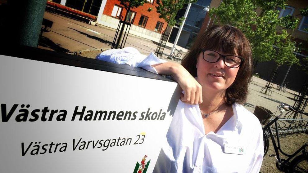Rektor Charlotte Löfqvist hoppas att det är åtgärdat till imorgon.