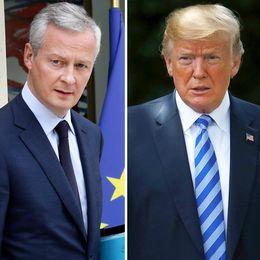Frankrikes finansminister Bruno Le Maire och USA:s motsvarighet Steve Mnuchin möttes i Quebec, Kanada, en vecka före det stora G7-mötet där USA:s president Donald Trump väntas närvara