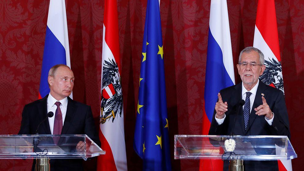 Rysslands president Vladimir Putin och Österrikes president Alexander Van der Bellen i Wien.