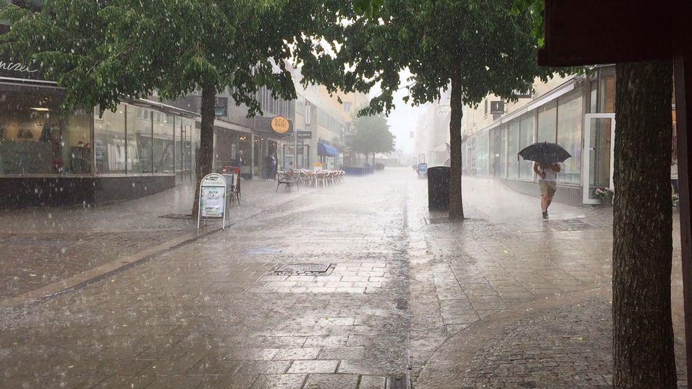 Regn, väder, Uppsala