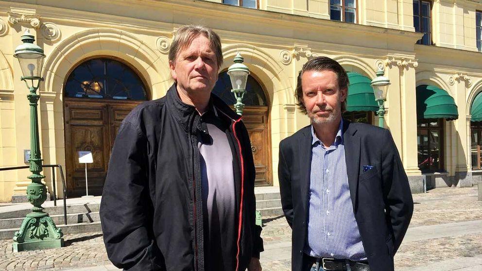 Advokaterna Lennart Lefverström och Per Eriksson