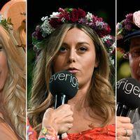 Victoria Silvstedt Bianca Ingrosso Och Marcoolio Under Presentationen Av Arets Sommarvardar I P