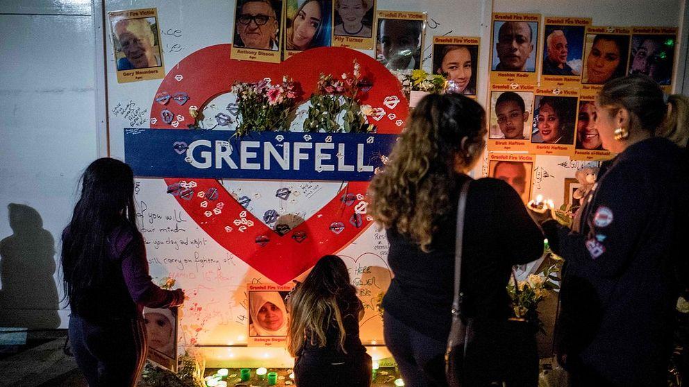 Offren hedrades i London – ett år efter dödliga branden