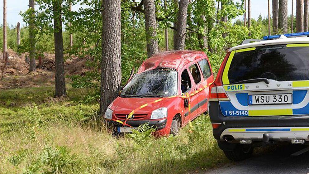 Trafikolycka vid Åryd.