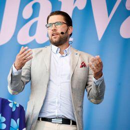 SD-ledaren Jimmie Åkesson talade på Järvaveckan.