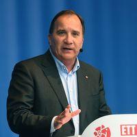 Socialdemokraternas partiledare och statsminister Stefan L?fven talar under den sista dagen av politikerveckan i J?rva.