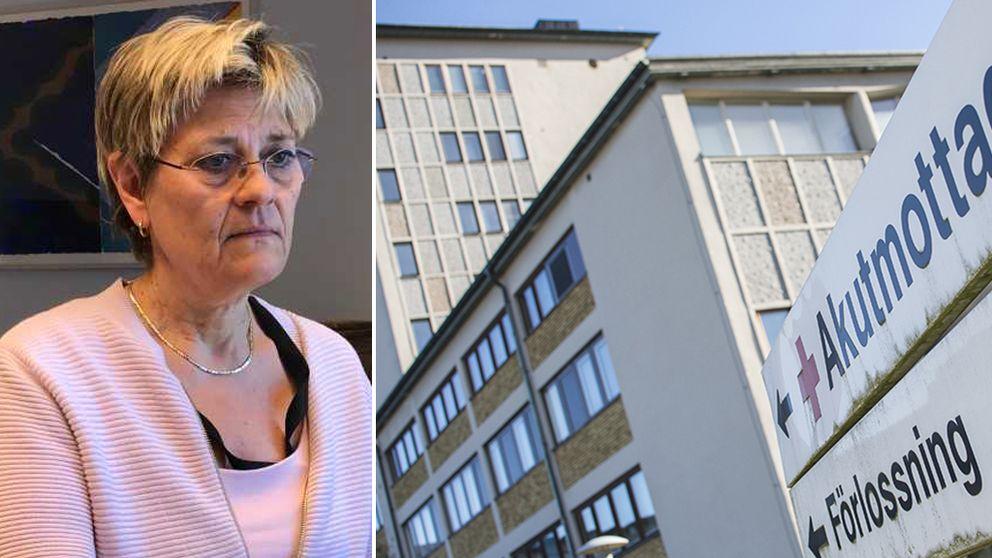 Sjukhusdirektör Nina Fållbäck Svensson kommenterar IVOs rapport om Sollefteå sjukhus.