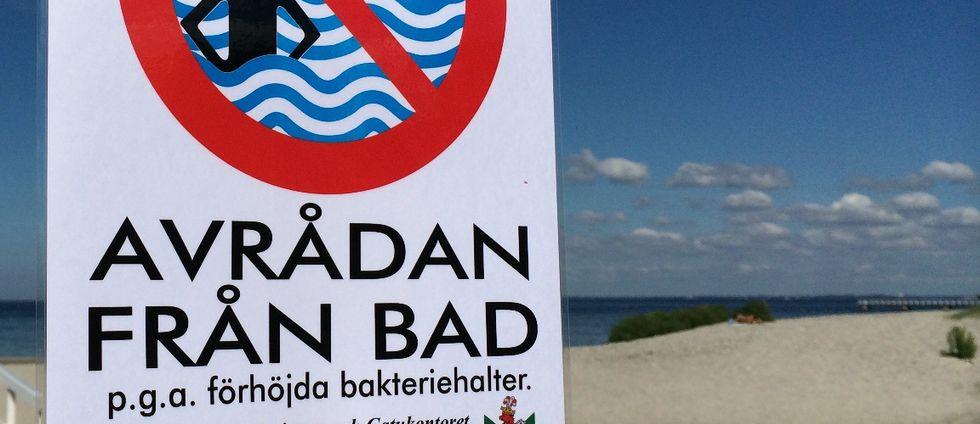 Badförbudsskylt