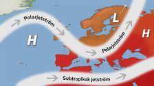Jetströmmarnas läge under löpet av vecka 25