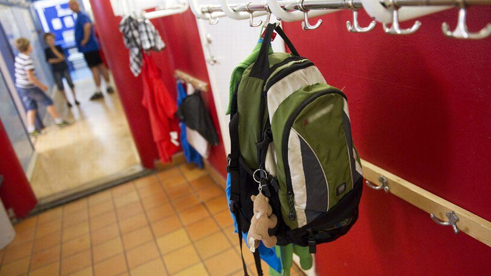 Väska på hängare i fritidshem