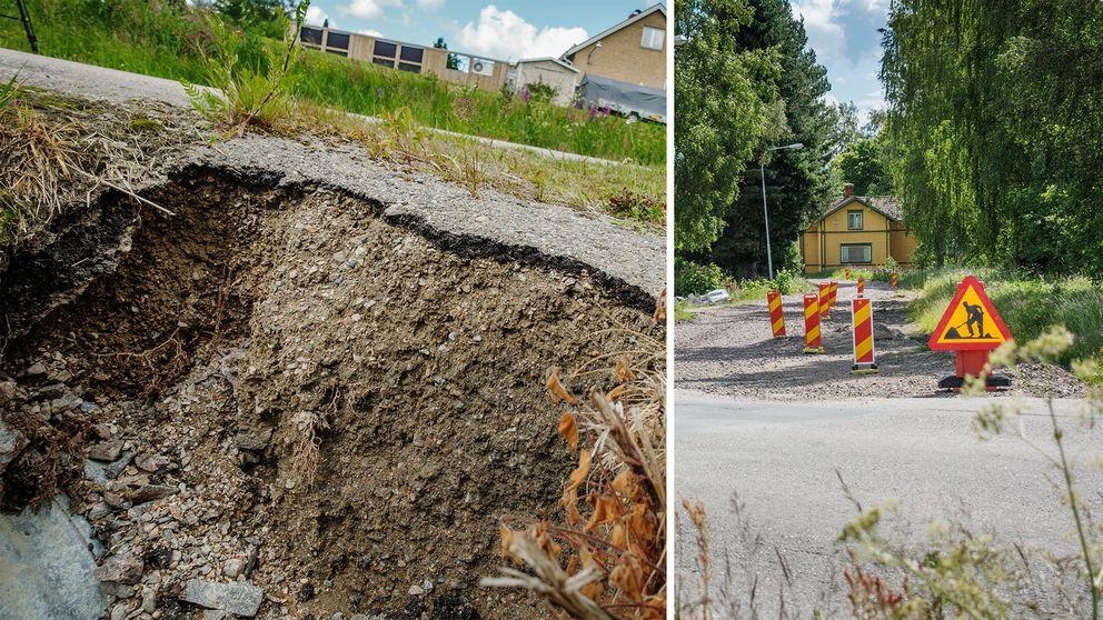 Flera vägar i Rengsjö, Bollnäs kommun, rasar efter vintern.