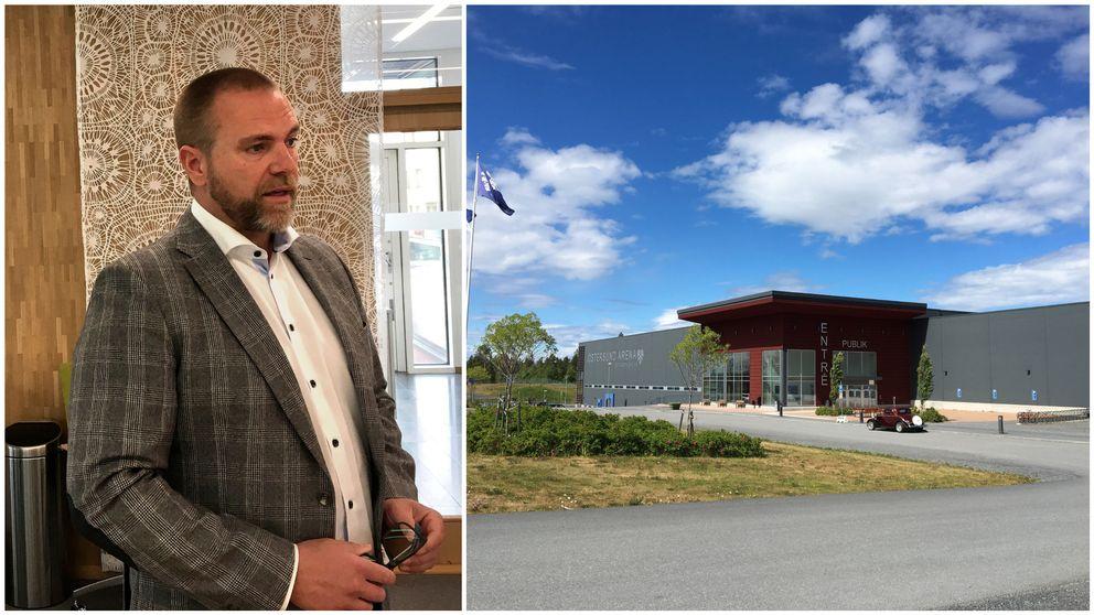 Anders Wennerberg, kommundirektör och en bild på Östersunds arena.