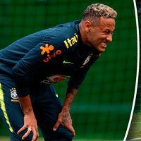 Neymar gjorde illa sig under Brasiliens träning under tisdagen och klev av.