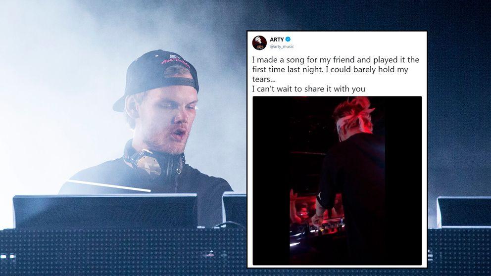 Arty lade på Twitter upp ett känslomässigt meddelade, med tillhörande kort klipp, om hyllningslåten till Tim Bergling