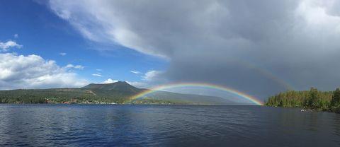 Fångade denna regnbåge över Lofssjön på bild 19/6.