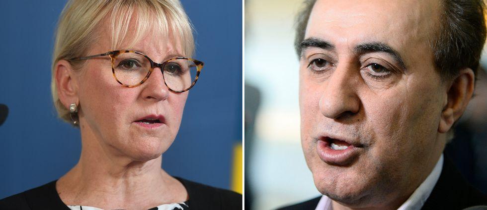 Den svenske riksdagsledamoten Jabar Amin (MP) har blivit fråntagen sitt pass och hålls kvar på Atatürk-flygplatsen i Istanbul. Han är en del av en delegation observatörer som ska bevaka valet i Turkiet på söndag. Margot Wallström kallar det hela för oacceptabelt.