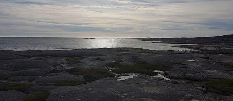 Varit en blåsig men vacker dag på Ramsvik, Bohuslän. Midsommardagen eftermiddag.