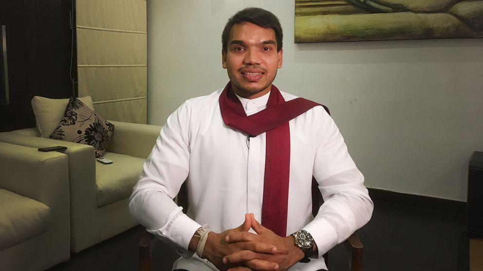 Namala Rajapaksa, parlamentsledamot och son till förre presidenten Mahindra Rajapaksa.