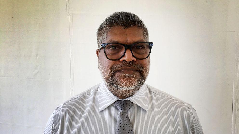 Hamndirektören för Hambantota, Ravindra A. Jayawickreme