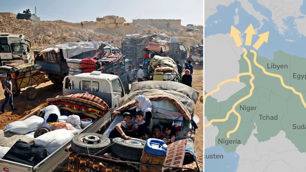 Syriska flyktingar gör sig redo att lämna Libanon.