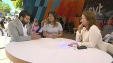 Anna Hedenmo intervjuar riksdagsledamöterna Ali Esbati (V) och Jessica Polfjärd (M).