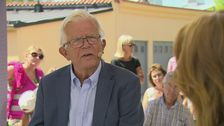 Kristdemokraternas fd partiledare Alf Svensson intervjuas av Anna Hedenmo.