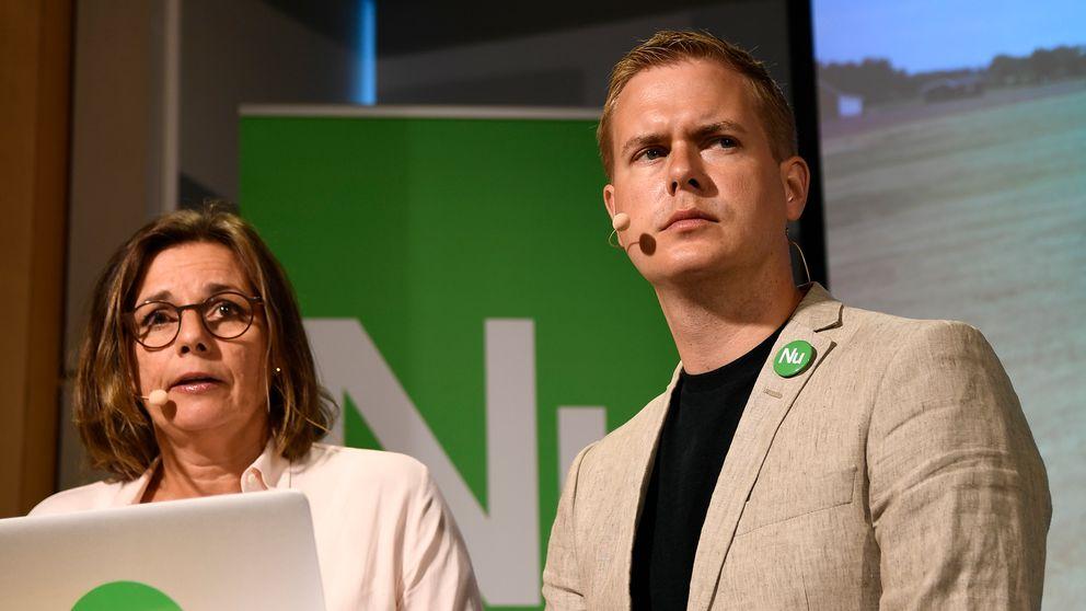 MP:s språkrör håller presskonferens i Almedalen.