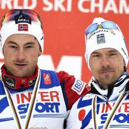 Petter Northug och Jonas Olsson.