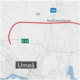 Ett kollage av en dumper och en karta över området där vägen planeras.