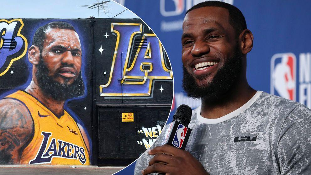 LeBron James har presenterats av LA Lakers.