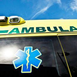 Blåljusen på en ambulans