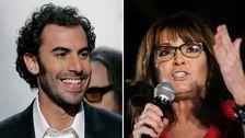 I sin nya tv-serie driver komikern Sasha Baron Cohen med den amerikanska politikens elit. Något som fått den republikanska tidigare vicepresidentkandidaten Sarah Palin att uppröras.