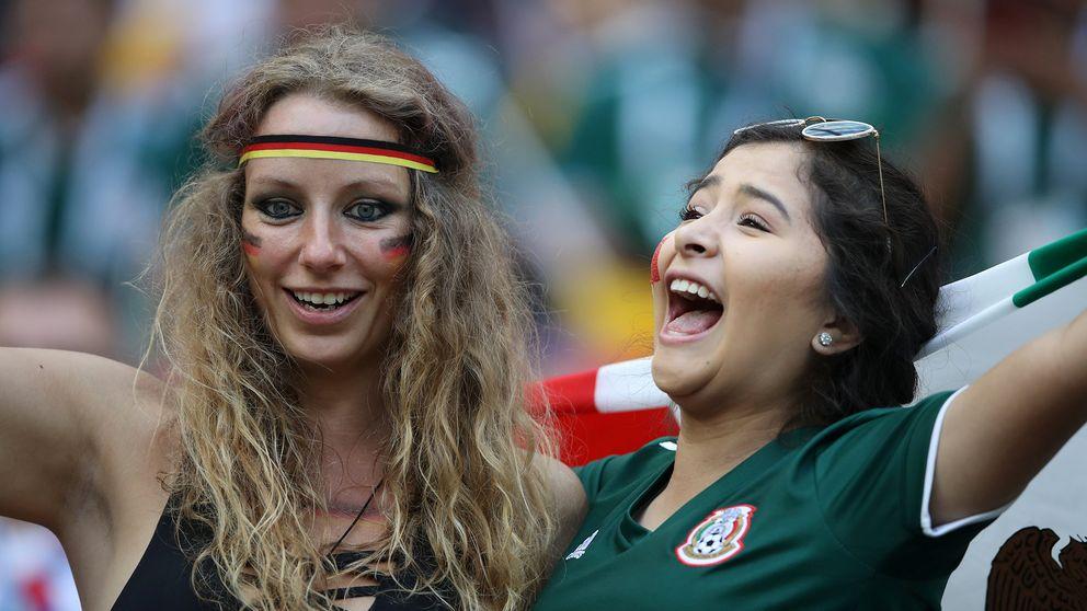 Tyska och mexikanska fans.