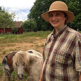 – Man kan använda 25-35 procent av löv tillsammans med hö, säger Elisabeth Berglund.