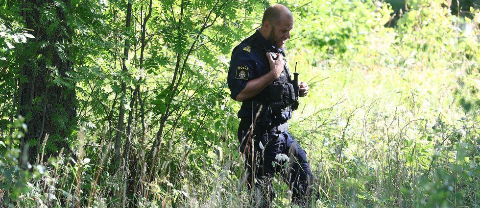 Polisen ryckte ut pa snobollskrig