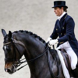 Tinne Vilhelmsson Silfvén på hästen Don Auriello under Göteborg Horse Show 2016.