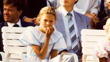 Kronprinsessan Victoria vid firandet på Öland den 14:e juli 1987.