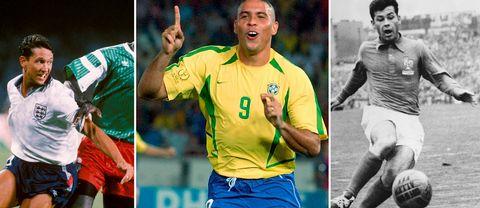 Gary Lineker, Ronaldo och Just Fontaine.