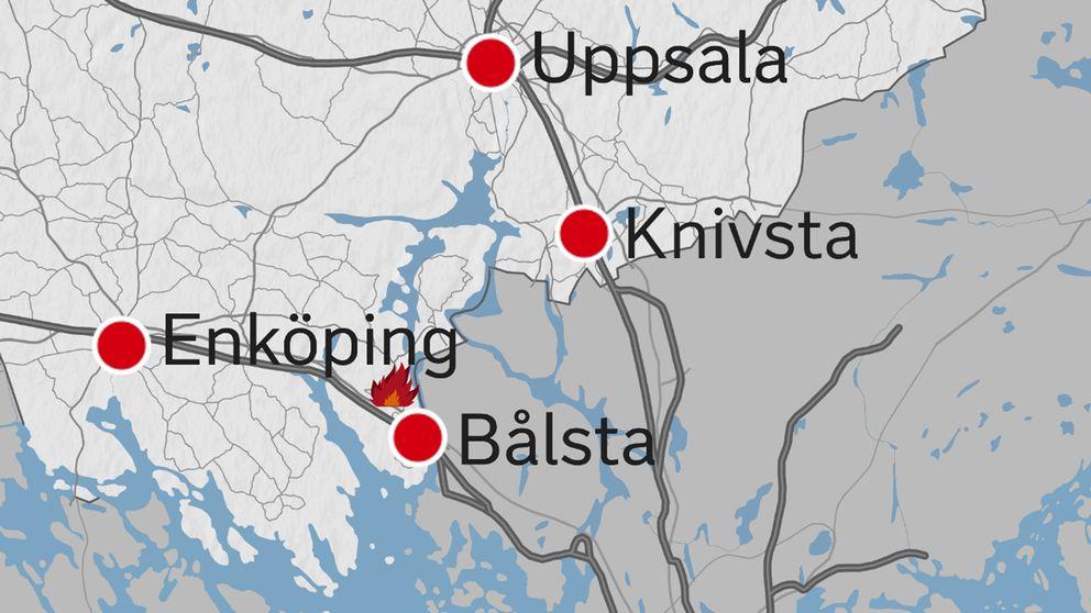 skogsbrand karta Skogsbrand i Annelund – under kontroll | SVT Nyheter skogsbrand karta