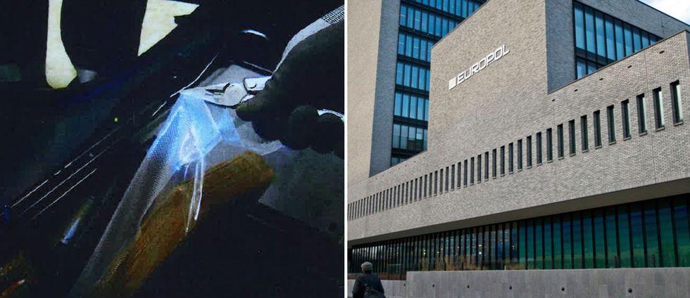 En hel del av den smugglade narkotikan har förts över gränsen, gömda i speciella fack i hyrda bilar, enligt polisen och Europol.