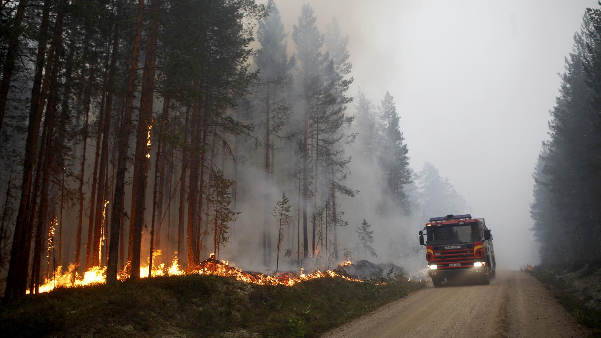 Stor brand utanfor kramfors