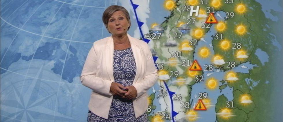 SVT:s meteorog Helen Tronstad.