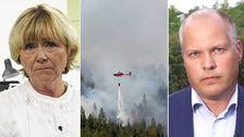 Beatrice Ask (M) och inrikesminister Morgan Johansson (S) i Aktuellt