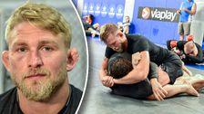 """UFC-stjärnan Alexander """"The Mauler"""" Gustafsson tränar inför sin första match på över ett år."""